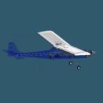 Vista de 360º de um avião de aeromodelismo