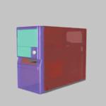 Animação de uma caixa de computador