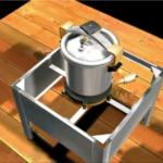Animação 360º de fogão industrial